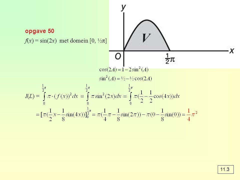 f(x) = sin(2x) met domein [0, ½π]